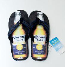Corona Mens Flip Flops Sandals Cerveza Mas Fina Thongs Sz Medium & XL NEW $30