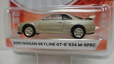 Greenlight 2001 NISSAN SKYLINE GT-R R34 M-SPEC Gold TOKYO TORQUE S1