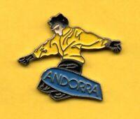 pin's Lapel pins pin Région TOURISME ANDORRA ANDORRE Snowboard Skiing Ski Skieur