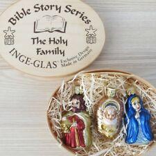 Inge Glas Heilige Familie 8 cm Christbaumschmuck Weihnachten Anhänger