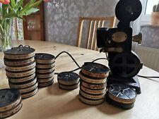 Pathé Kid 9,5mm Projektor mit vielen Filmen und Zubehör  (Halogenumbau)