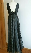 Vintage John Charles Eveningwear Black Taffeta Style Dress ~ 14..Beautiful!