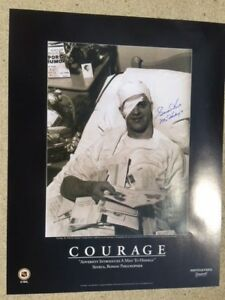Autographed GORDIE HOWE Courage 22 X 28 Poster Red Wings JSA