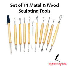 11pc Polymer Clay Sculpting Tool Set Wood Models Art Pottery Ceramic Tools Kit