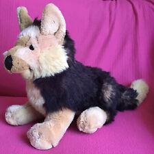 "Alsatian German Shepherd Dog Realistic Fur Soft Plush Toy 11"" x 18"""