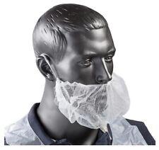 Genuine Joe White Polypropylene Beard Breathable Protector Caps 100/Pack