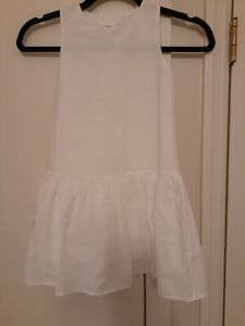 COS White Girls Jumper with Ruffle size 2-4