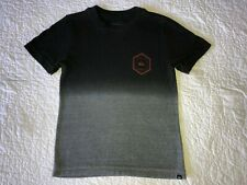 Boys QUIKSILVER Black / Gray Gradient Logo T-shirt Shirt Size S Small 8-10 EUC!