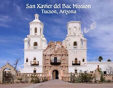 AZ - tucson - San Xavier del Bac Mission - Souvenir Flexible Fridge Magnet