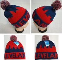 ee0af2e11 24PC Lot CLEVELAND NAVY RED CITY SKYLINE Beanie PomPom Toboggan Winter Hats
