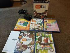 Konvolut von 5 Playstation 2 Eye Toy Spiele spielen 1,2,3 Groove Super Sports + Kamera