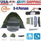3-4 Person 4 Outdoor Season Camping Hiking Waterproof Folding Tent Camouflage US