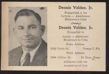 POSTCARD TAMPA FL/FLORIDA EVANGELIST DENNIS VALDEZ MISSIONARY TO CUBA 1930'S