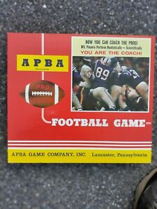 APBA Pro League Football Game - Nice Condition (missing player cards)
