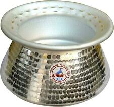 Hammered Aluminum Biryani Handi Tope Lid Curry Meat Chicken Party Open Fire 3L