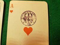 RARE VINTAGE WWII Flemmings Pikett-Karte Nr. 171 Playing Cards GILDED CORNERS!!