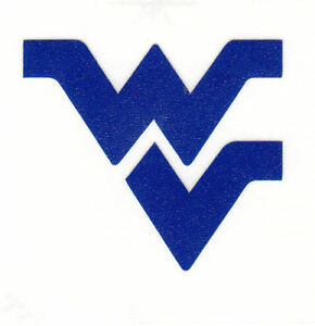 REFLECTIVE West Virginia Mountaineers fire helmet decal sticker up to 12 inches