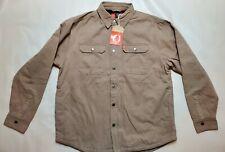 Mens The American Outdoorsman Tan Canvas Fleece Lined Snap Up Jacket Medium