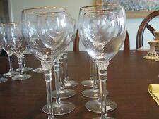 """LENOX PHOENIX GOLD 8 WINE GLASSES 8"""""""