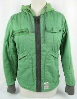 G-Star Raw 3301 Women's Jacket Green Womens Regular Jacket Zipped Size M Hooded