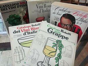 Cataloghi Bolaffi Vini e Grappe d'Italia - 5 Cataloghi