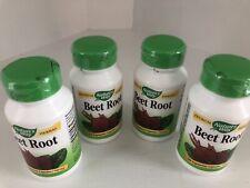 4 Bottles Natures Way Beet Root Premium Herbal 400 Vegetarian Capsules Total