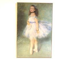Renoir The Dancer 1874 Print On Wood Plaque Natl. Gallery of Art Ballerina NEW