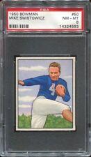 1950 Bowman #50 Mike Swistowicz PSA 8 New York Yanks Notre Dame