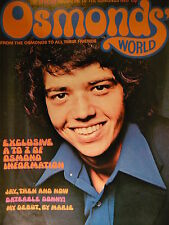 OSMONDS WORLD MAGAZINE - ISSUE 6 APRIL 1974 - (INCLUDES OSMONDS POSTER!)