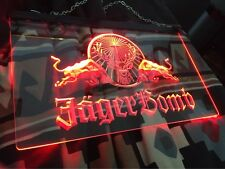 LED Neon Light Jagermeister Jager Bomb Sign Bar Club Pub Sport Gift Advertise