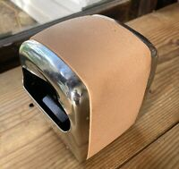 Vintage Hostess Napkin Holder - Pink Peach - Hostess Sales - Stainless Steel