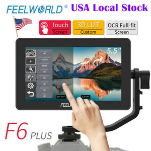 """Feelworld F6 PLUS Monitor 5.5"""" Touch Screen 3D LUT 4K HDMI Video Camera Monitor"""