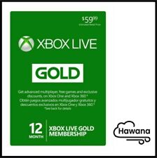 Microsoft Xbox LIVE 12 Month (1 Year) Gold Membership for Xbox 360 / XBOX ONE