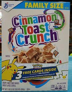 Pokemon 25th Anniversary Foil Pikachu General Mills Cinnamon Toast Crunch SEALED