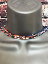 NEW ACCESSORIZE multi colour woven choker diamanté detail