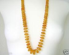 XXL Natur Bernstein Rund Kette Butterscotch Honig Genuine Amber Necklace