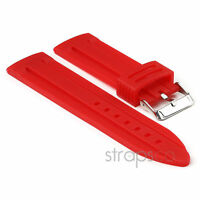 StrapsCo Divers Silicone Waterproof Rubber PU Watch Band Mens Strap