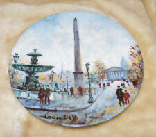 """1 Louis Dali Porcelain Limoges bradex collector Plate as shown in photo""""s"""