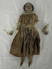 Spooky Vintage Antique Girl or Woman in a Dress Composition Doll Estate Find
