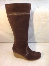 Clarks Brown Knee High Suede Boots Size 5.5