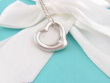 Auth Tiffany & Co Silver Open Heart Peretti Necklace Box Included