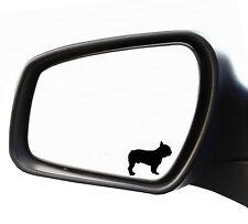 2x Aufkleber Spiegel Englische Französische Bulldogge Nummernschild Kennzeichen