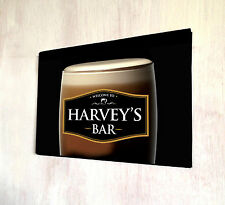Personalised Metal Sign Stout Guiness Pint Glass black label Bar sign A4