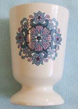 Vintage RETRO New Devon Pottery Pink & Blue Floral Ceramic VASE