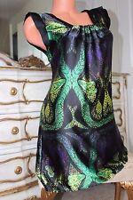 NEXT sleek&slippery faux satin ladies summer dress tunic size 8