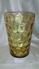 A LOVELY THOMAS WEBB & SONS , LARGE , OPTIC MULTI-PEA MOULDED ,AMBER  GLASS VASE