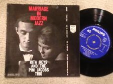 RITA REYS Marriage in Modern Jazz EP Philips 433-029 Pim Jacobs Trio PS