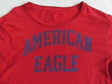 American Eagle Men's Athletic Fit Short Sleeve Crew Neck Red T Shirt - Small
