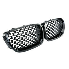 Pair Glossy Black Kidney Grille Grill For BMW 5-Series F10 F11 F18 2010-2016