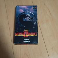 Mortal Kombat Ⅱ 2 Super Famicom SFC Nintendo Used Japan Aklaim Retro Game F/S
